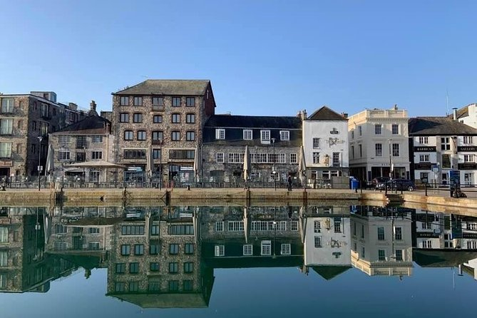 The historical Plymouth Barbican on a beautiful day.
