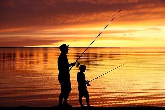 Fishing rod rental on the beach