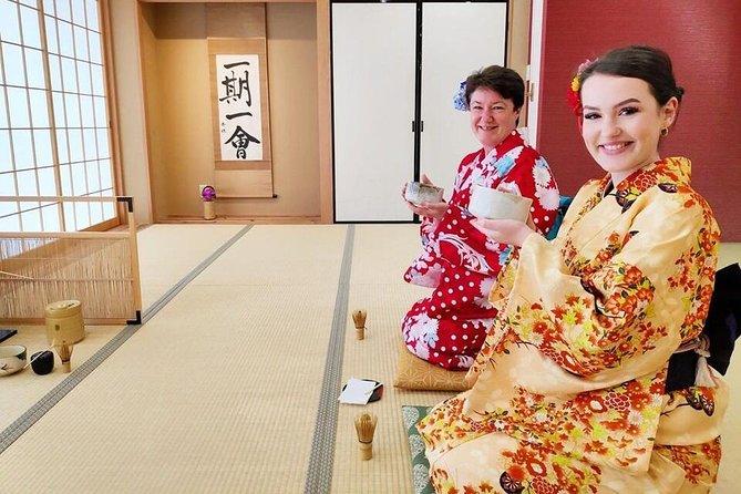 Tea Ceremony and Kimono Experience Tokyo Maikoya