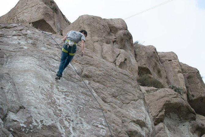 Rock Climbing, Rappel, Volcanoes and Typical Desserts