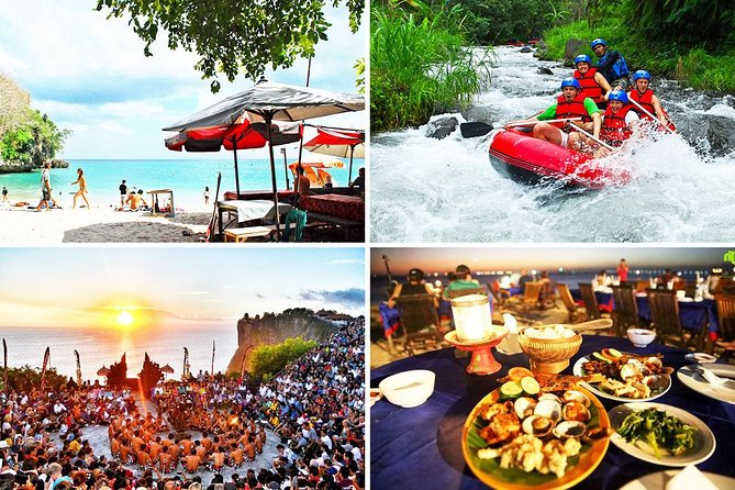 Bali River Rafting and Uluwatu Sunset Tour