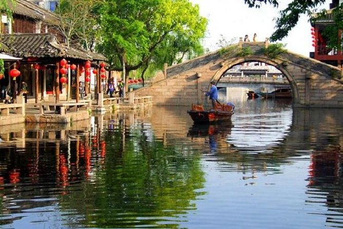 Mini Group Day Tour to Zhouzhuang & Jinxi Ancient Water Towns from Shanghai