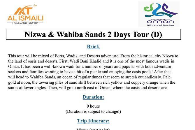 Nizwa & Wahiba Sands 2 Days Tour photo 1