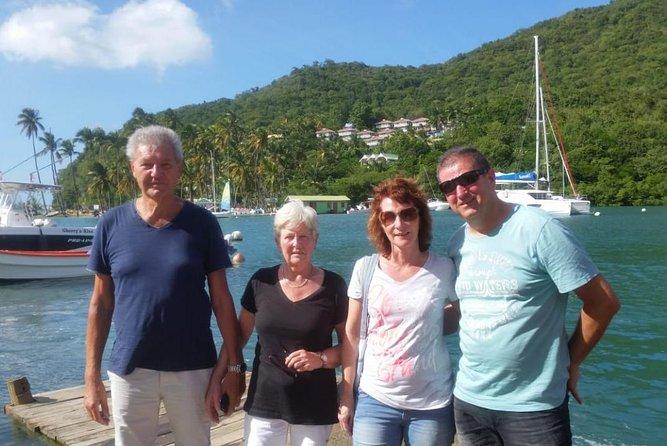Trip to Soufiere: volcano, twin pitons, waterfall, mud bath & botanical garden