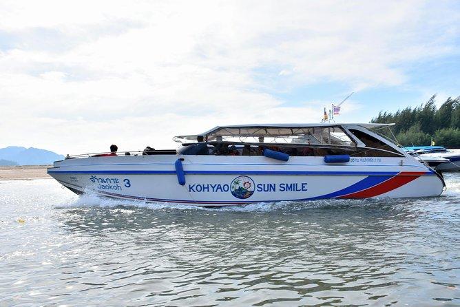 Ao Nang to Phuket by Koh Yao Sun Smile Speed Boat