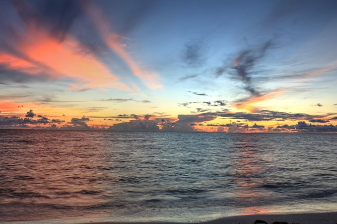 various colors in the tropical sunset
