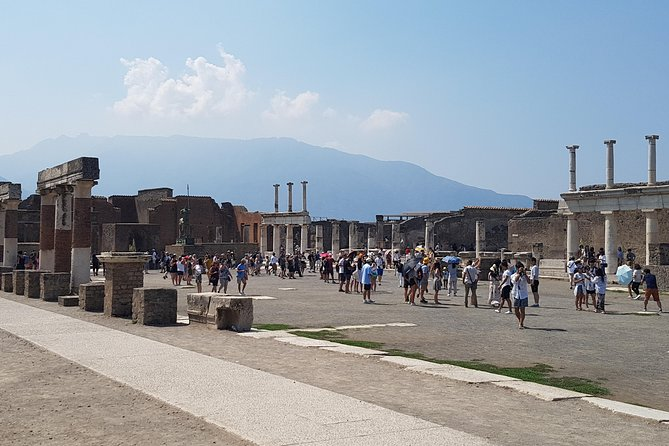 Pompeii excavation tour visiting Naples, full day from Rome