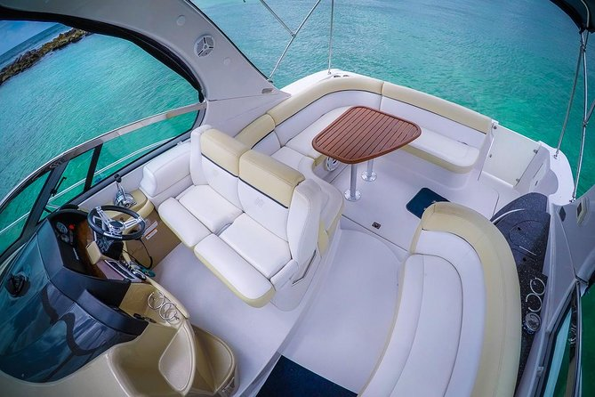 5-Hour Private 37' Yacht 2-Stop Tour w/ Food, Open Bar & Snorkeling photo 12