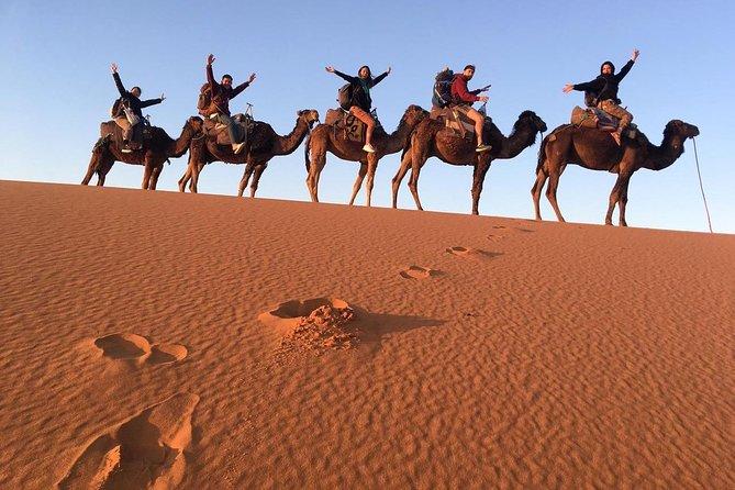 4 Days Merzouga Desert Tour From Marrakech To Fes-Desert Night camp & camel ride