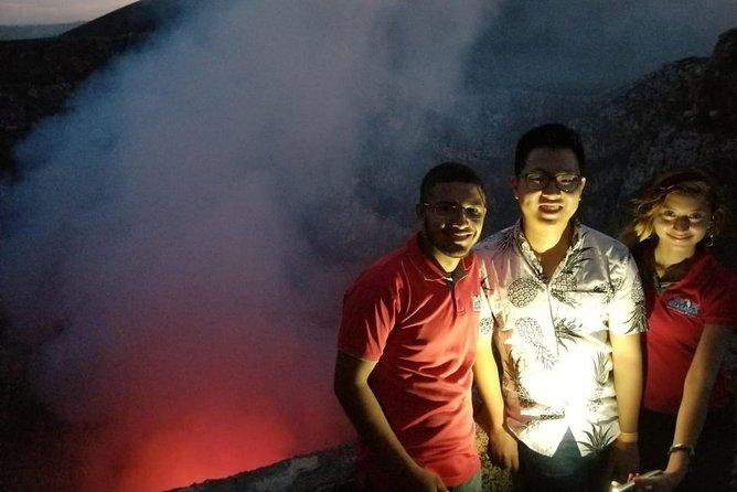 Granada+Apoyo Lagoon and Masaya volcano night tour