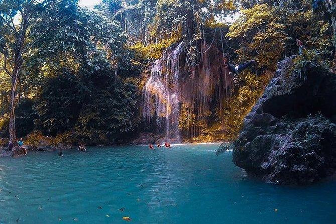 Jump of at Kawasan Falls