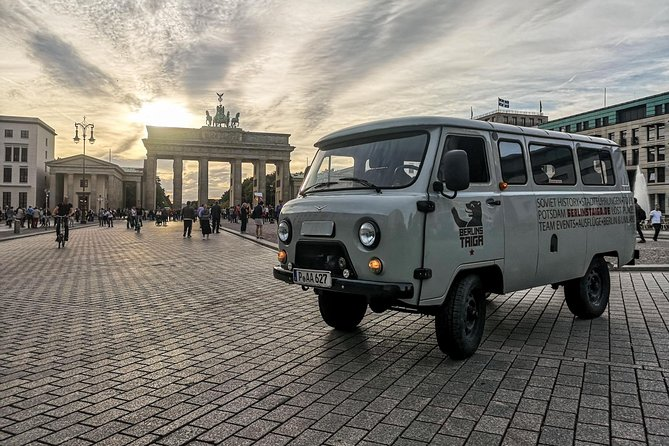 Private City Tour Soviet Berlin in a Russian vintage minibus