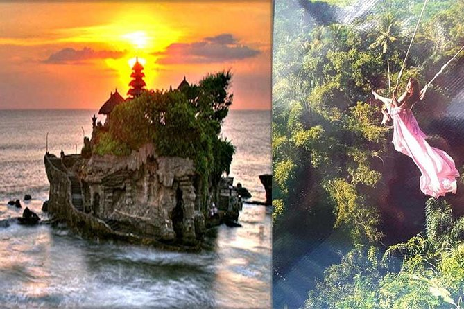 Hideaway Swing Bali Activity and Tanah Lot Sunset Tour With Lunch