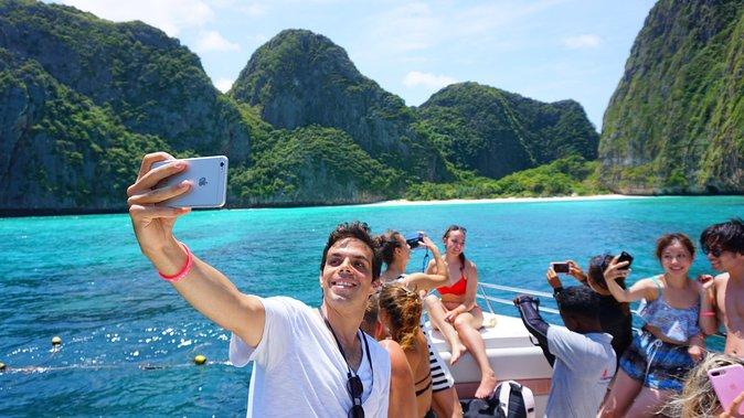 Phi Phi Maya Bambusinsel mit dem Schnellboot (VIP-AUSFLUG)