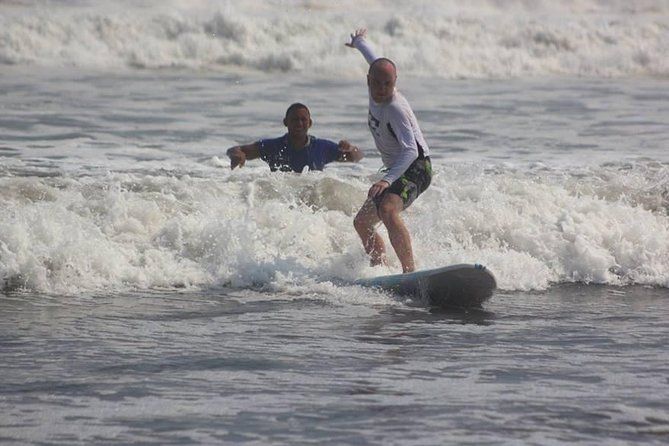 Surf Lessons in El Paredon on the black sand Pacific beach of Guatemala