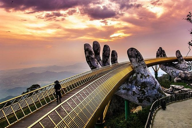 Sightseeing The Spectacular Golden Bridge In Ba Na Hills Full-Day Private Tour
