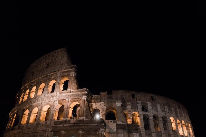 Sunset and Moonlight VIP Night Tour of Rome: Aperitif, Ancient Rome & Colosseum