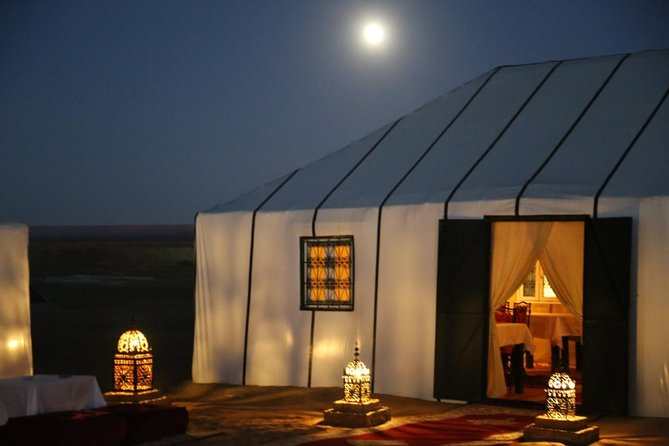 One night camel trekking in Merzouga Desert and Luxury Camp