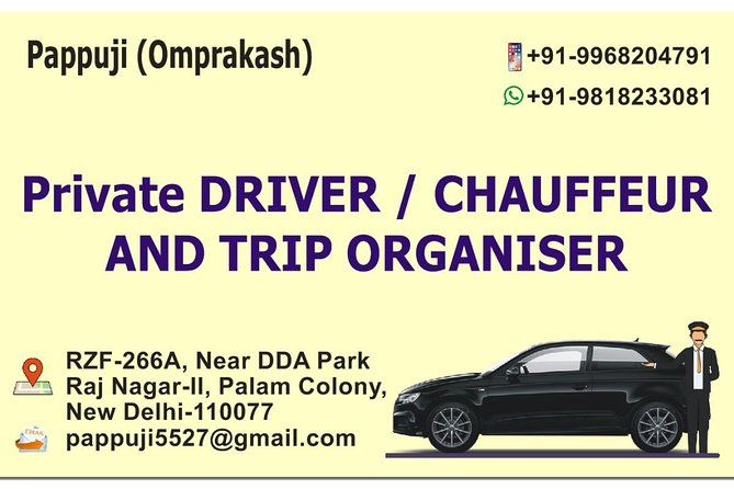 North India trip organiser (Delhi based private driver)