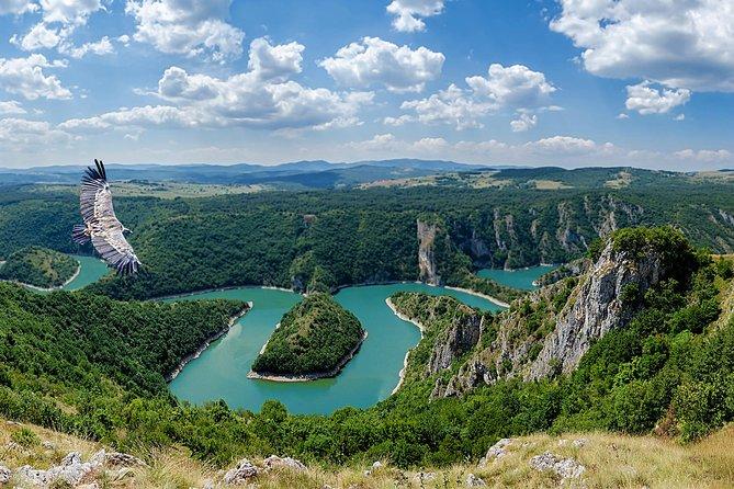 Uvac canyon, Stendnica monastery, wood city, Sargan 8 Railway, 3 Days Tour