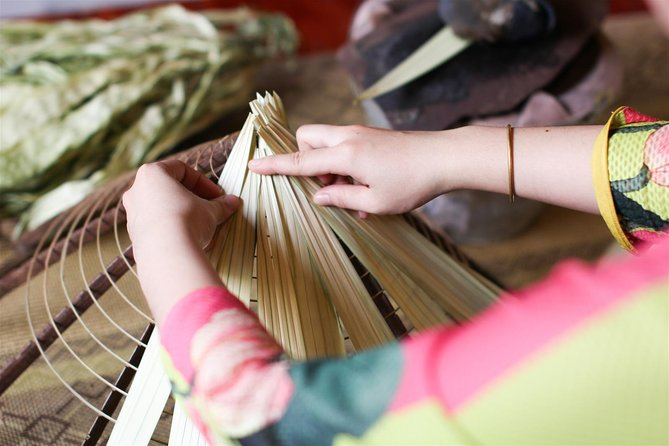A Worshop To Make Vietnamese Traditional Conical Hat Inside Hue Citadel
