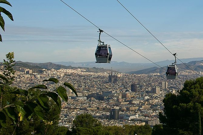 Private Barcelona Old Town & Sky Views: Montjuic Castle & Cable Car Tour