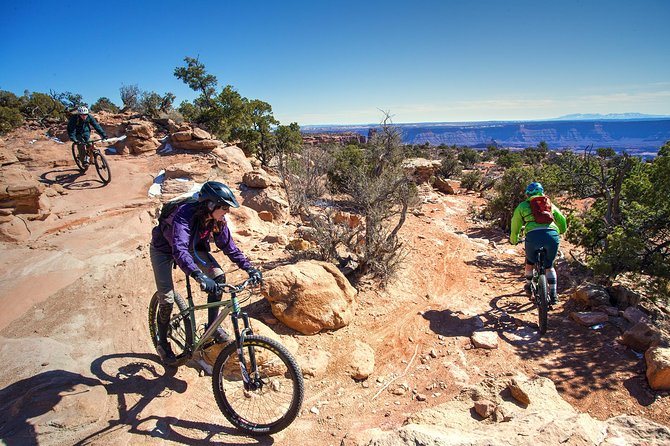 There are a few places where some get off and walk their bikes, due to short sections that are steeper and rougher than the rest of the trail.