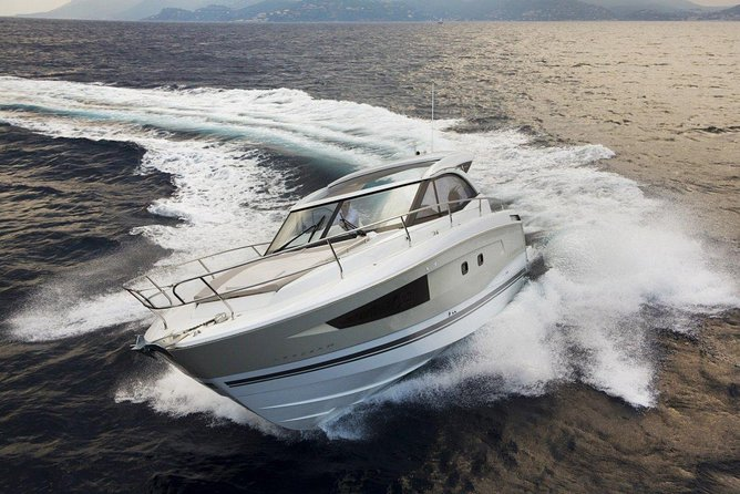 Brand New Jeanneau 36 Power Boat Half Day Charter