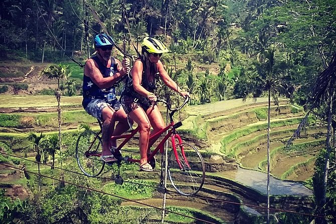 New adventure UBUD SKY BIKE, RICE TERACE,TEMPLE and VOLCANO TOUR WITH LUNCH.