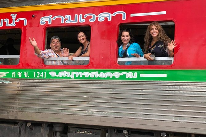 Half-Day Railway Market and Floating Market Tour in Thailand