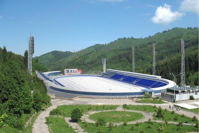 Group tour to ski resort Shymbulak, skating rink Medeo,mountain Koktobe