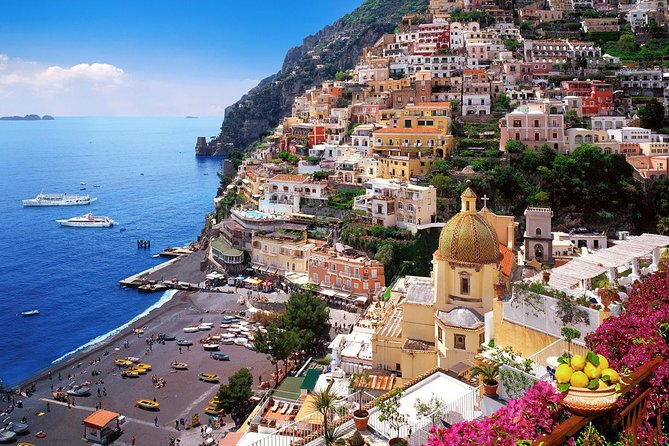 Positano, Amalfi and Ravello from Sorrento with assistant on board