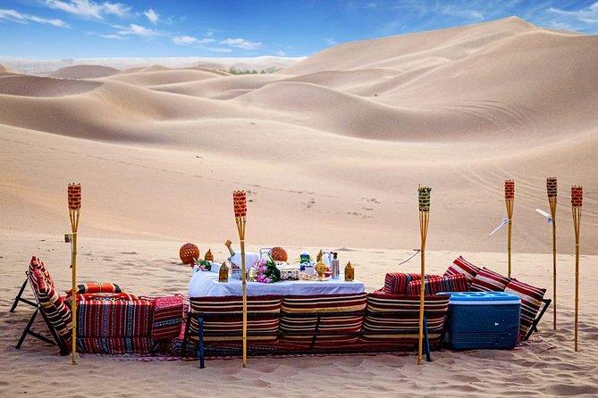 Abu Dhabi Private Desert Romantic Dune Dinner with Dune Bashing