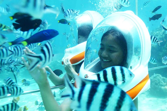 Walk under the sea to see the natural beauty of the underwater island of Bali