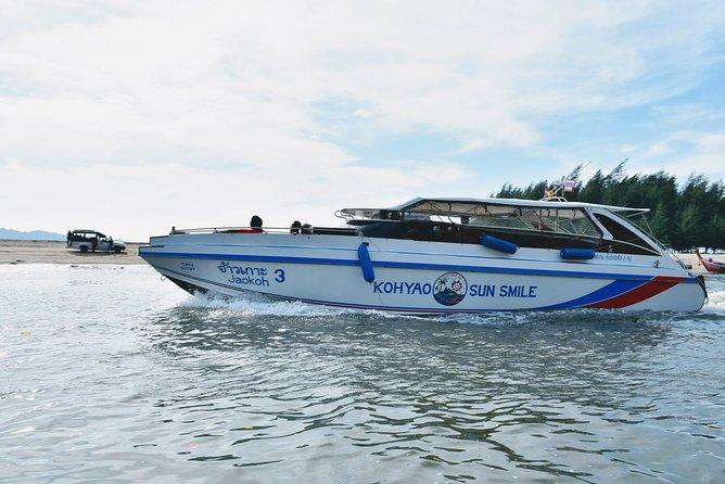 Phuket to Railay Beach by Koh Yao Sun Smile Speed Boat