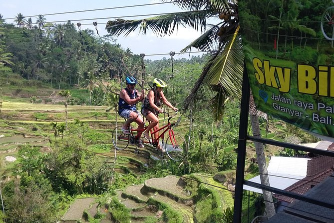Ubud Sky Bike, Swing And Rafting With Lunch.