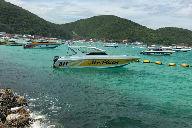 Pattaya : Coral Island tour on speed boat with indian lunch pick up from hotel