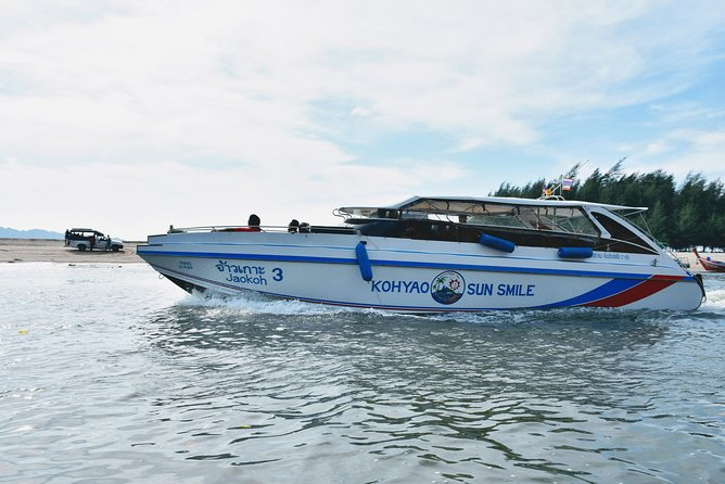 Railay Beach to Naka Island by Koh Yao Sun Smile Speed Boat
