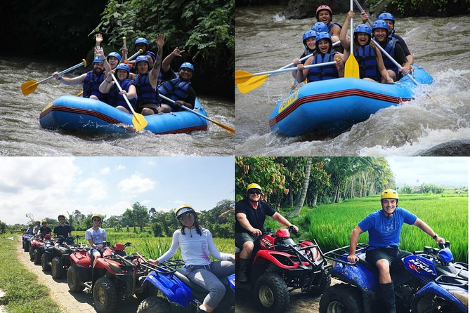 Ayung water rafting and Quad biking with lunch and private transport.