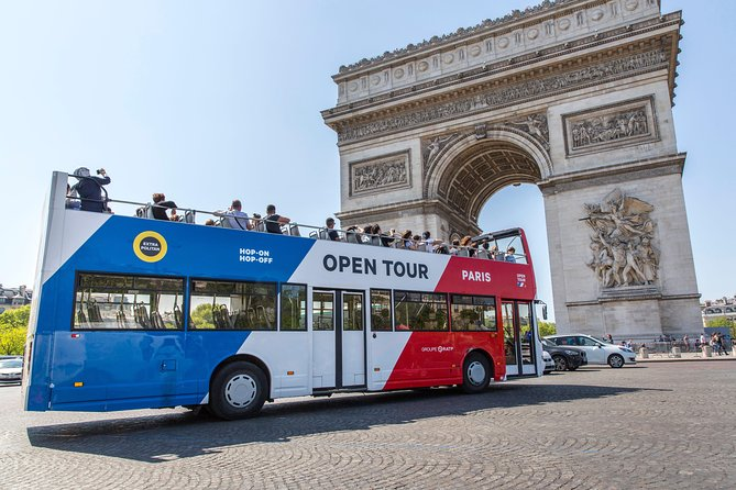Open Tour Paris Hop on Hop off Sightseeing Bus & Seine River Cruise