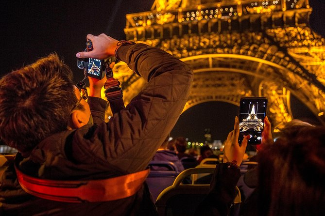 Open Tour Paris Non-stop Sightseeing Bus by Night