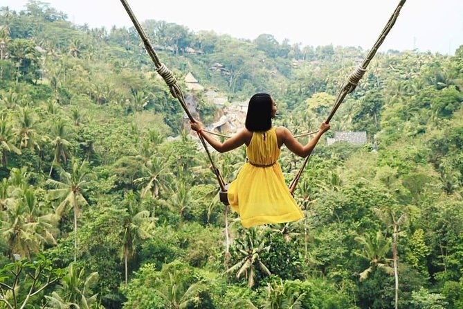 Jungle Swing Ubud,Waterfalls and Tanah Lot Temple Tour