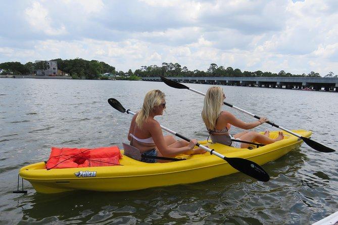 Tandem Kayaking to Under the Bridge