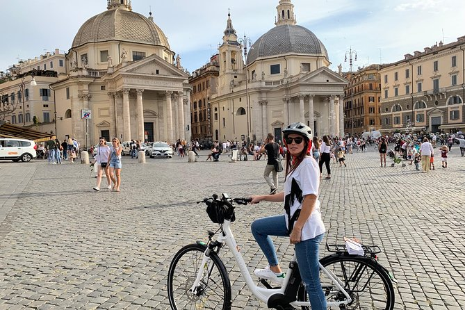 "Rome Tour ""the center of the world"" with high quality electric bicycle!"