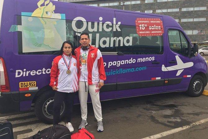 Private transfer in medium van to Lima Airport (QuickLlama Airport Shuttle)