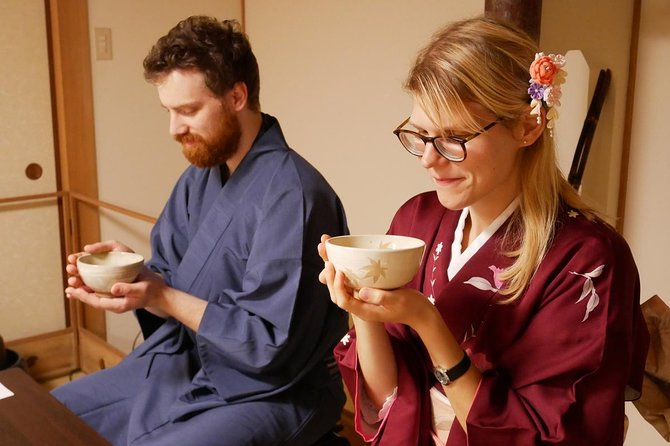Authentic Tea Ceremony Experience while wearing Kimono in Miyajima