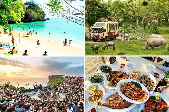 Bali Safari Park and Uluwatu Sunset Tour