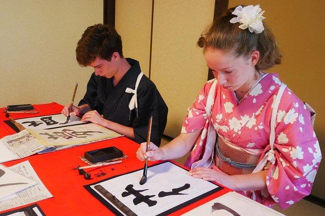 Relaxing experience of Kimono and Calligraphy in Miyajima