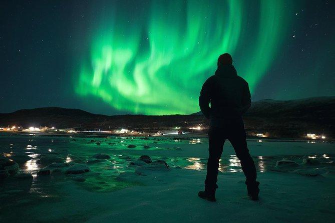 Excursión de búsqueda de la aurora boreal en autobús