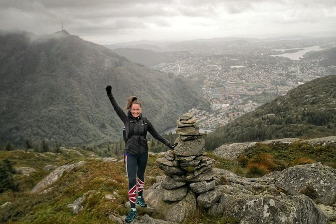 On Top of Bergen - Hiking with mountain guide.